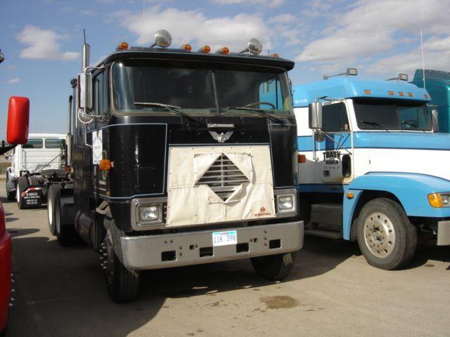 Old Cabover Semi-Trucks